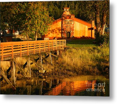 Metal Print featuring the photograph Chief Shakes House by Laura  Wong-Rose