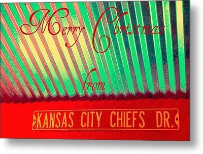 Chiefs Christmas Metal Print by Chris Berry