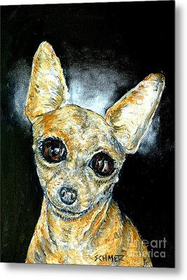 Chihuahua Angel Metal Print by Jay  Schmetz