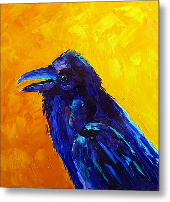 Chihuahuan Raven Metal Print by Susan Woodward