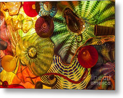 Chihuly Glass 3 Metal Print