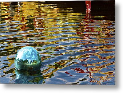 Metal Print featuring the photograph Chihuly Reflection I by John Babis