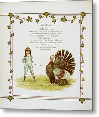 Child And Turkey Metal Print by British Library