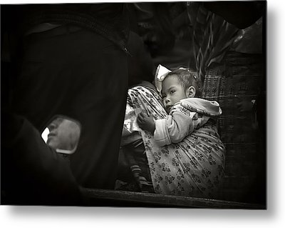 Child  On A Journey Metal Print by Tom Bell