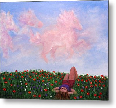 Childhood Day Dreams Metal Print