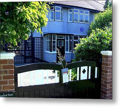 Childhood Home Of John Lennon Liverpool Uk Metal Print