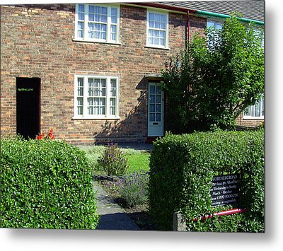 Childhood Home Of Paul Mccartney Liverpool Uk Metal Print