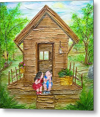 Childhood Retreat Metal Print by Jan Wendt