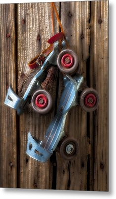 Childhood Skates Metal Print by Garry Gay