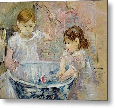 Children At The Basin Metal Print by Berthe Morisot