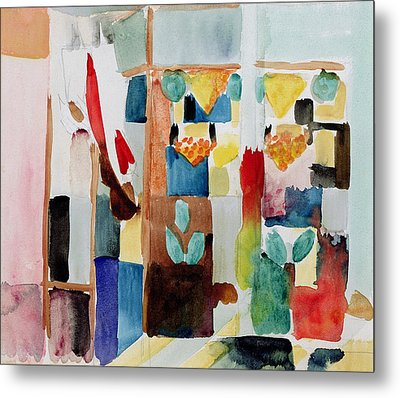 Children At The Greengrocers I Metal Print by Franz Marc