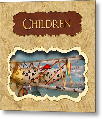 Children Button Metal Print by Mike Savad