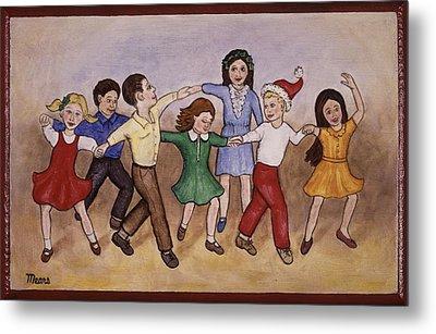 Children Dancing Metal Print by Linda Mears