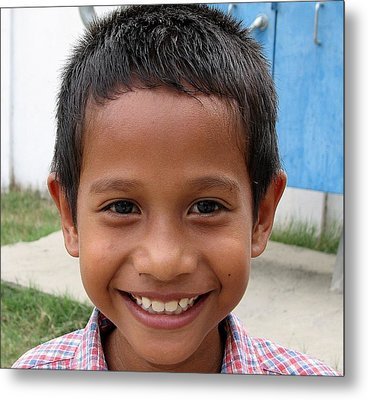 Children Faces Of East Timor Metal Print by Diane Height