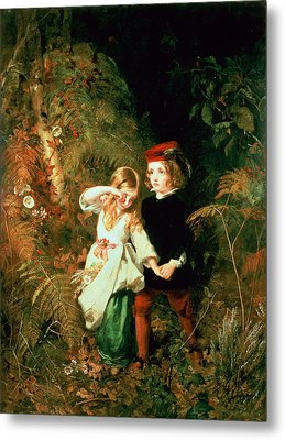 Children In The Wood Metal Print by James Sant