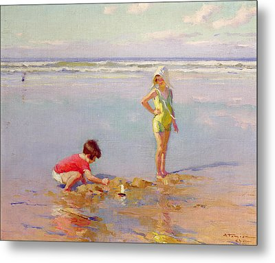 Children On The Beach Metal Print