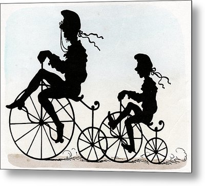 Children Riding Velocipedes Metal Print by Cci Archives
