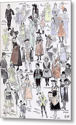 Childrens Fancy Dress At The Mansion House 1892 Mastor Metal Print