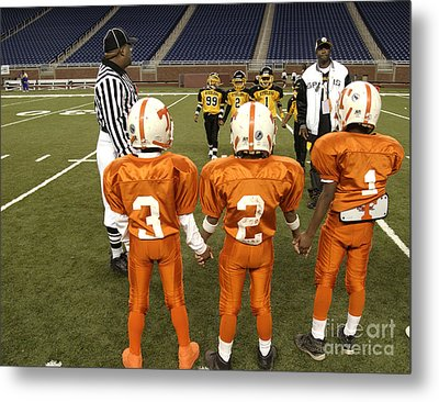 Metal Print featuring the photograph Children's Football by Jim West