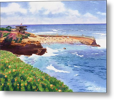 Children's Pool In La Jolla Metal Print by Mary Helmreich