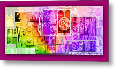 Children's Small World Metal Print