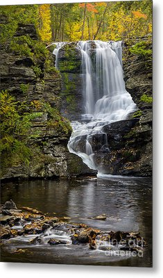 Childs Park Waterfall Metal Print by Susan Candelario