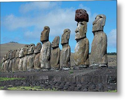 Chile, Easter Island, Hanga Nui Metal Print by Cindy Miller Hopkins