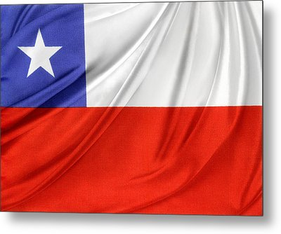 Chile Flag  Metal Print by Les Cunliffe