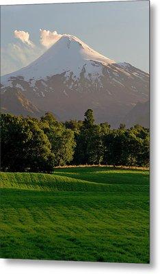 Chile South America Pasture In Rio Metal Print