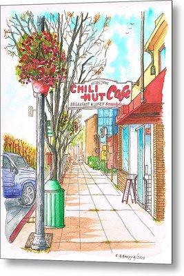 Chili Hut Cafe In Main Street, Santa Paula, California Metal Print
