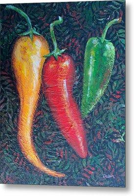 Chili Pepper Madness Metal Print