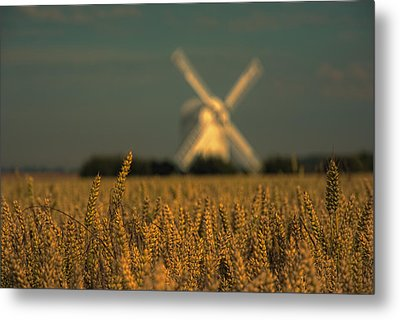 Chillenden Windmill Metal Print