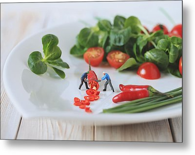 Chilli Salad For Tonight's Dinner Metal Print by Gediminas Karbauskis