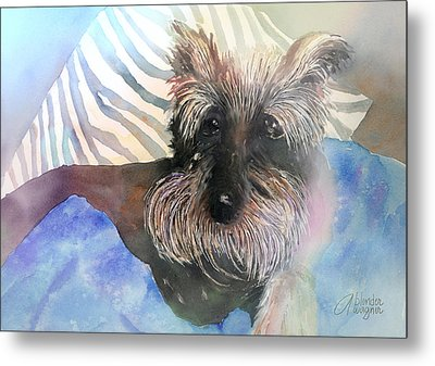 Metal Print featuring the painting Chilling Out by Arline Wagner
