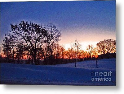 Chilly Beautiful Sunrise Metal Print by Minding My  Visions by Adri and Ray