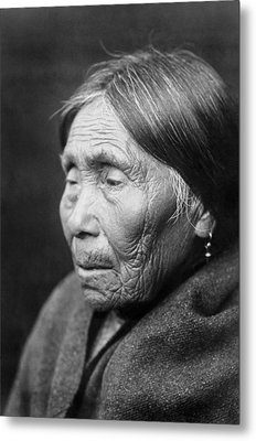 Chimakum Indian Woman Circa 1913 Metal Print by Aged Pixel