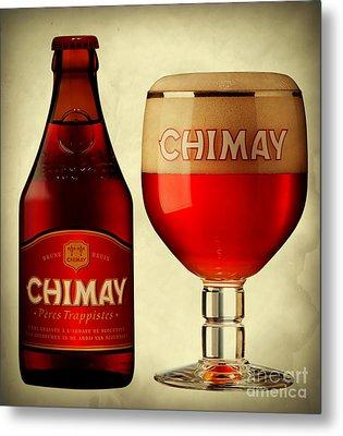 Chimay Red Metal Print by Matteo Sfrenato