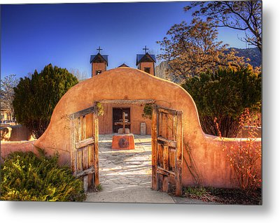 Chimayo Mission Metal Print by Wendell Thompson