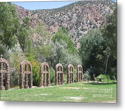 Metal Print featuring the photograph Chimayo Sanctuary In New Mexico by Dora Sofia Caputo Photographic Art and Design