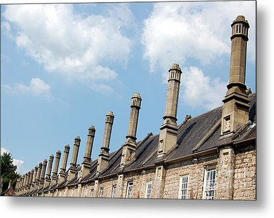 Chimney Stacks At The Ready Metal Print by Linda Prewer