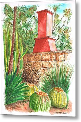 Chimney At The Arboretum - Arcadia - California Metal Print