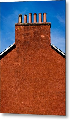 Metal Print featuring the photograph Chimney Pots by Bud Simpson