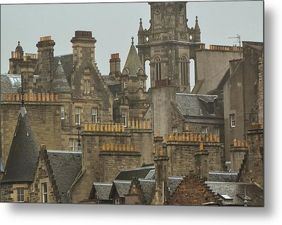Chimney Pots Of Edinburgh Metal Print by Bill Mock