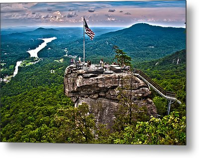 Metal Print featuring the photograph Chimney Rock At Lake Lure by Alex Grichenko