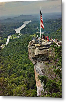 Metal Print featuring the photograph Chimney Rock Overlook by Alex Grichenko
