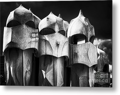 Chimneys Of Gaudi Metal Print by George Oze