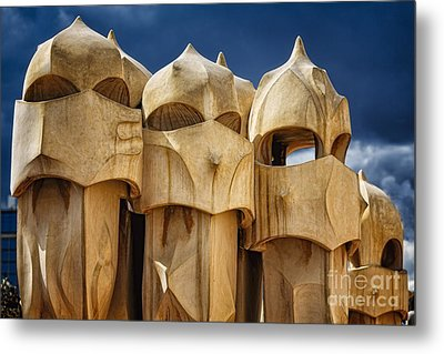 Chimneys Of La Pedrera Metal Print by George Oze