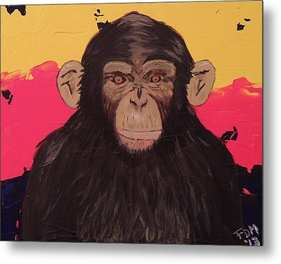 Chimp In Prime Metal Print