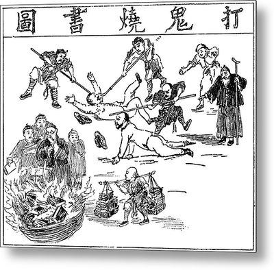 China Anti-west Cartoon Metal Print by Granger