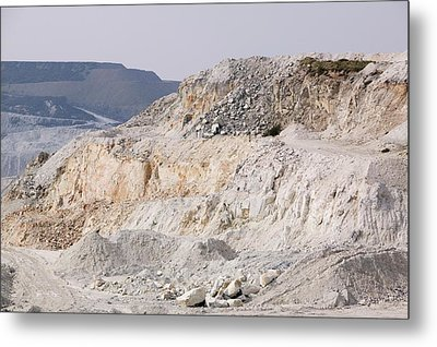 China Clay Workings Near St Austell Metal Print by Ashley Cooper